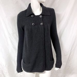 VINCE Wool Blend Charcoal Cardigan Sweater
